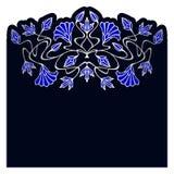 Vector art nouveau elements. Vector art nouveau invitation cards with space for text Stock Image