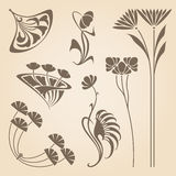 Vector art nouveau elements. Stock Images