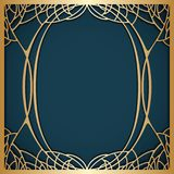 Vector art nouveau frame. Vector art nouveau frame for design invitation card, packing, booklet, print Stock Image