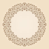 Vector art nouveau frame. Royalty Free Stock Photography