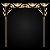 Vector art nouveau frame. Vector art nouveau gold frame with space for text Royalty Free Stock Images