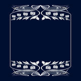 Vector art nouveau frame. Vector art nouveau invitation card with space for text Stock Photos