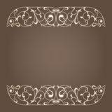 Vector art nouveau frame. Royalty Free Stock Photo