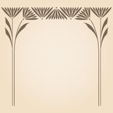 Vector art nouveau frame. Royalty Free Stock Photos