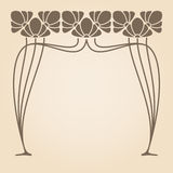 Vector art nouveau frame. Stock Photo