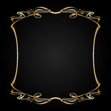 Vector art nouveau frame with space for text. Royalty Free Stock Photo
