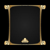 Vector art nouveau frame with space for text. Stock Photography