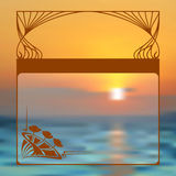 Vector art nouveau frame with space for text. Royalty Free Stock Images
