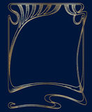 Vector art nouveau frame. Royalty Free Stock Images