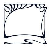 Vector art nouveau frame. Vector art nouveau vintage frame for design invitation card, packing, booklet, print Royalty Free Stock Image