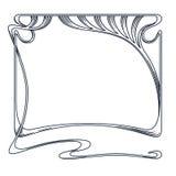 Vector art nouveau frame. Vector art nouveau vintage frame for design invitation card, packing, booklet, print Royalty Free Stock Photo