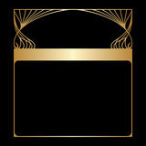 Vector art nouveau gold frame. Stock Photos