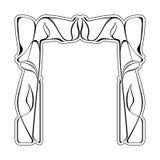 Vector art nouveau frame. Stock Image