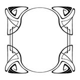 Vector art nouveau frame. Stock Photos