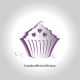 Vector Art Paper Icon Design Cupcake Bakery Shop Stock Photography