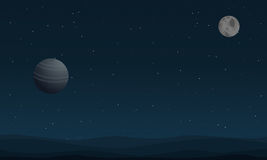 Vector art of planet outer space Royalty Free Stock Photo