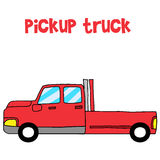 Vector art of red pickup Stock Photos