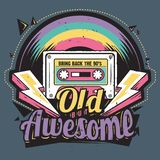 Old but Awesome Retro Tape Illustration stock illustration