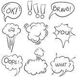 Vector art of speech bubble doodles Stock Images