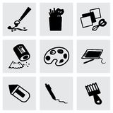 Vector Art tool icon set Royalty Free Stock Image