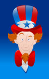 Vector Art of Uncle Sam. Cartoon Young Uncle Sam Face Closeup Portrait Vector Illustration vector illustration