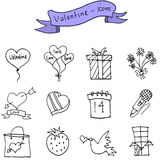 Vector art of valentine day icons. Collection stock Stock Photos