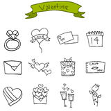Vector art of valentine icons Stock Photos