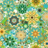 Vector art vintage stylization floral  pattern. background Royalty Free Stock Photo