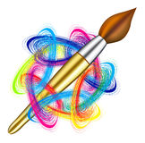 Vector Artist S Palette And Brush Royalty Free Stock Photo