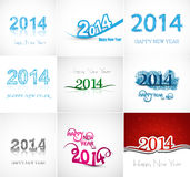Vector artistic Beautiful celebration new year set. Collaction colorful background stock illustration