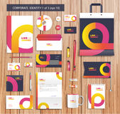 Vector artistic corporate identity template with Stock Photography