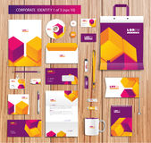 Vector artistic corporate identity template with Royalty Free Stock Photos