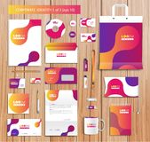 Vector artistic corporate identity template with Stock Images