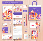 Vector artistic corporate identity template with Royalty Free Stock Photography