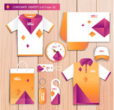 Vector artistic corporate identity template with Stock Photo
