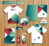 Vector artistic corporate identity template with Royalty Free Stock Images