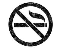 Vector Artistic Drawing Illustration of No Smoking Symbol or Sign. Vector artistic pen and ink drawing illustration of no smoking sign or symbol Royalty Free Stock Photography