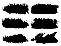 Vector  artistic grungy black paint hand made Stock Image