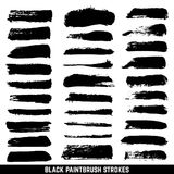 Vector artistic ink paint blob brushes. Inked brushed strokes isolated.. Dirty black brushstrokes collection. Illustration paintbrush drawing ink stroke Royalty Free Stock Photography