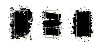 Vector artistic ink brush strokes. Grunge paint texture. Abstarct stamp background. Frame for text. Vector artistic ink, watercolor brush strokes. Grunge paint vector illustration