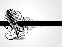 Vector artistic mic background Royalty Free Stock Photography