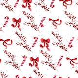 Vector artistiek naadloos patroon voor Vrolijke Kerstmisvakantie met de hand getrokken elementen van het waterverfdecor - hulstbe vector illustratie