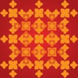 Vector artistiek van de lijn Thaise kunst van traditionele lijn Thai vector illustratie