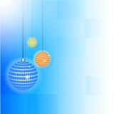 Vector artwork background with stylized colorful balls royalty free illustration