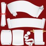 Vector as bandeiras, os rolos e o jogo de papel do diploma Imagens de Stock Royalty Free