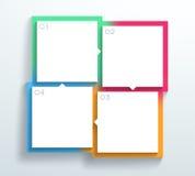Vector as caixas de texto 1 do quadrado da cor 3d 4 ao ciclo Infographic A Fotos de Stock