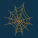 Vector as cobweb shape stitching Stock Photography