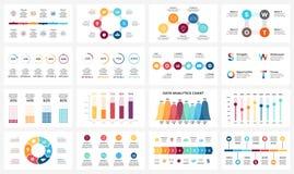 Vector as setas infographic, carta do diagrama, apresentação do gráfico Relatório comercial com 3, 4, 5, 6, 7, 8 opções, peças Fotografia de Stock Royalty Free