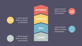 Vector as setas infographic, carta do diagrama do crescimento, apresentação do gráfico de desempenho Conceito do progresso do neg Foto de Stock