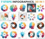 Vector as setas infographic, diagrama do círculo do ciclo, gráfico, carta da apresentação ilustração stock